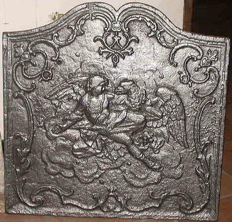 plaques fonte pougin antiquit s. Black Bedroom Furniture Sets. Home Design Ideas