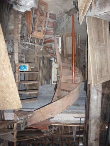 Pougin escaliers anciens pougin antiquit s - Escalier en bois occasion ...