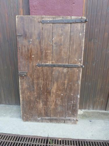 Portes anciennes ch ne et h tre pougin antiquit s for Porte cave bois
